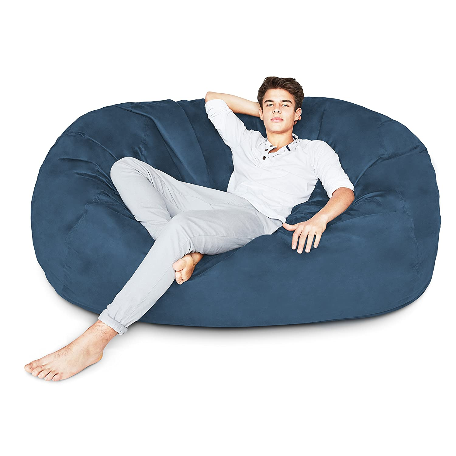 Men Sitting In Bean Bag Chairs