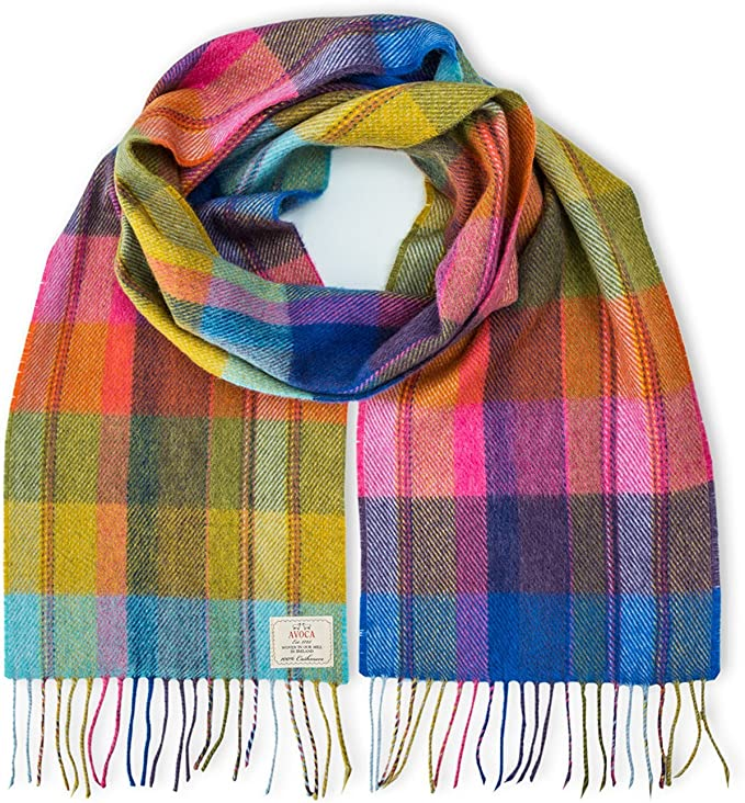 Avoca Pure Wool Scarf (Made in Ireland) Solstice Pastel Design