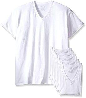 Image result for Fruit of the Loom Men's Tucked V-Neck T-Shirt