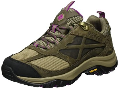Columbia Women's Terrebonne Outdry Hiking Shoe, Pebble, Intense Violet, 7 B US