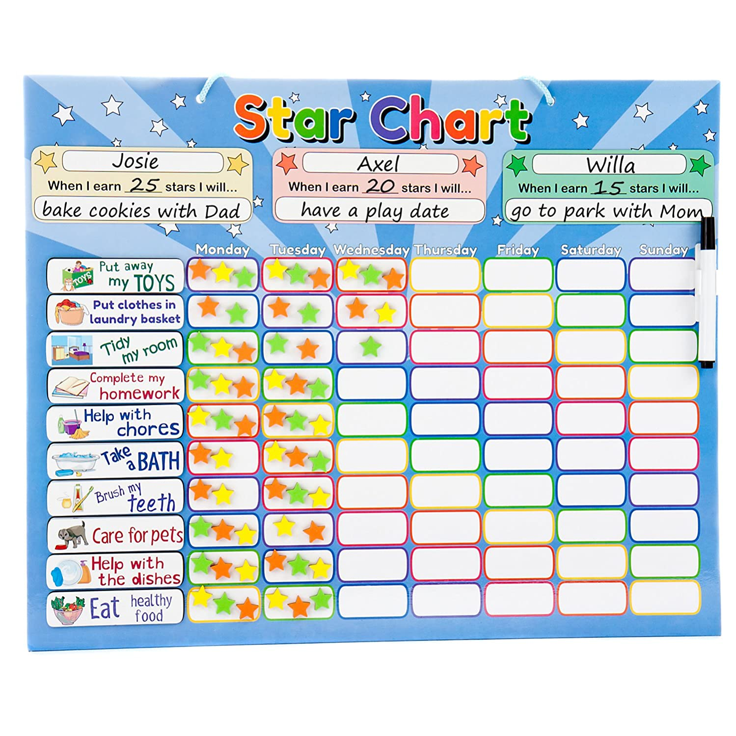 Roscoe Learning Responsibility Star Chart