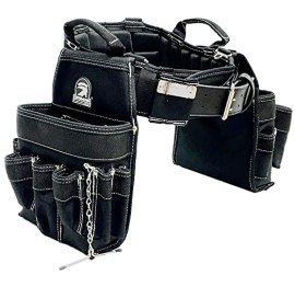 """TradeGear LARGE 36-40"""" Electrician's Belt & Bag Combo – Heavy Duty Electricians Tool Belt Designed for Maximum Comfort & Durability – Ideal for All Electricians Tools – Partnered w/GatorBack"""
