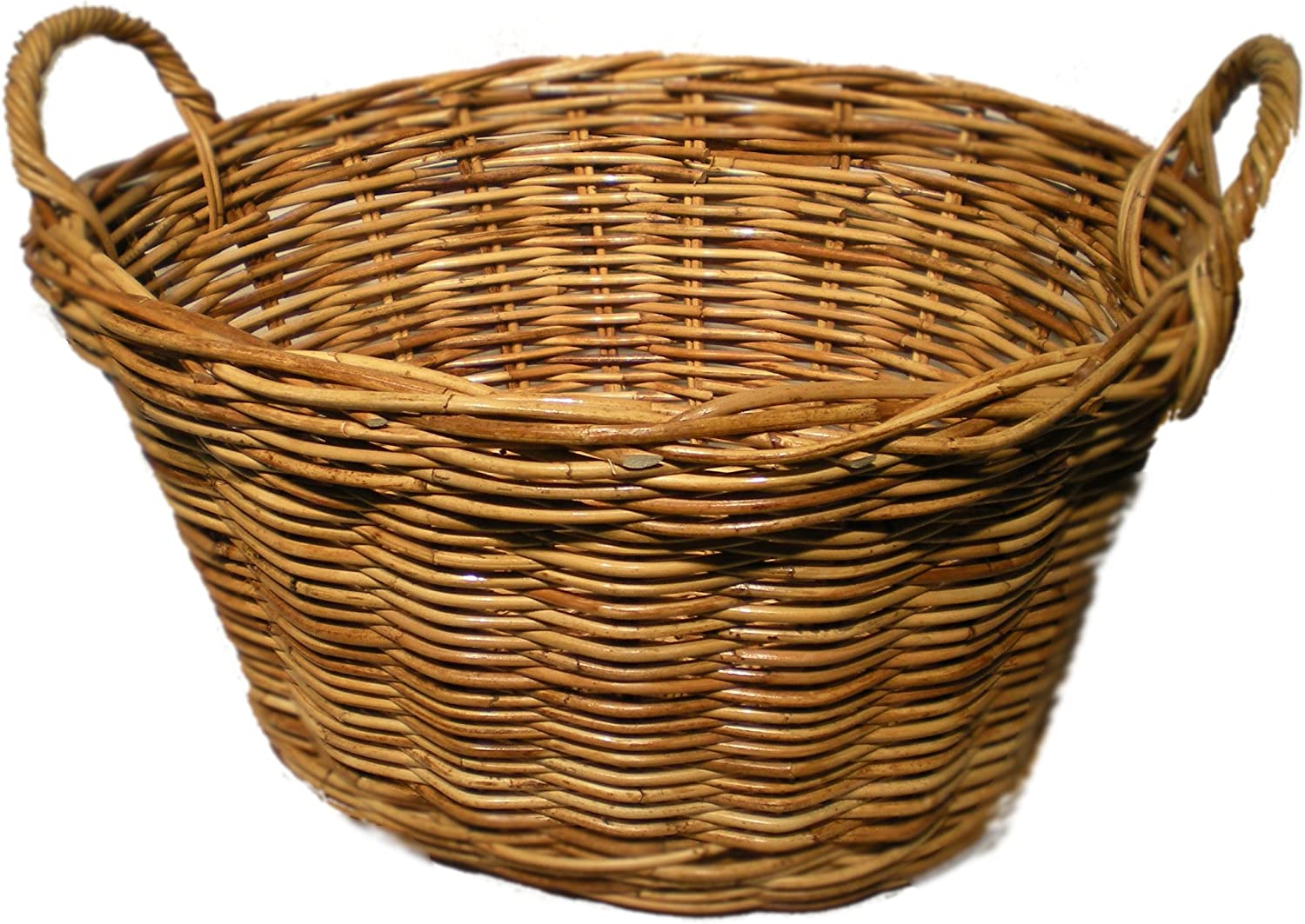 Somerset Levels Oval Wicker Washing Basket Amazon Co Uk Kitchen Home