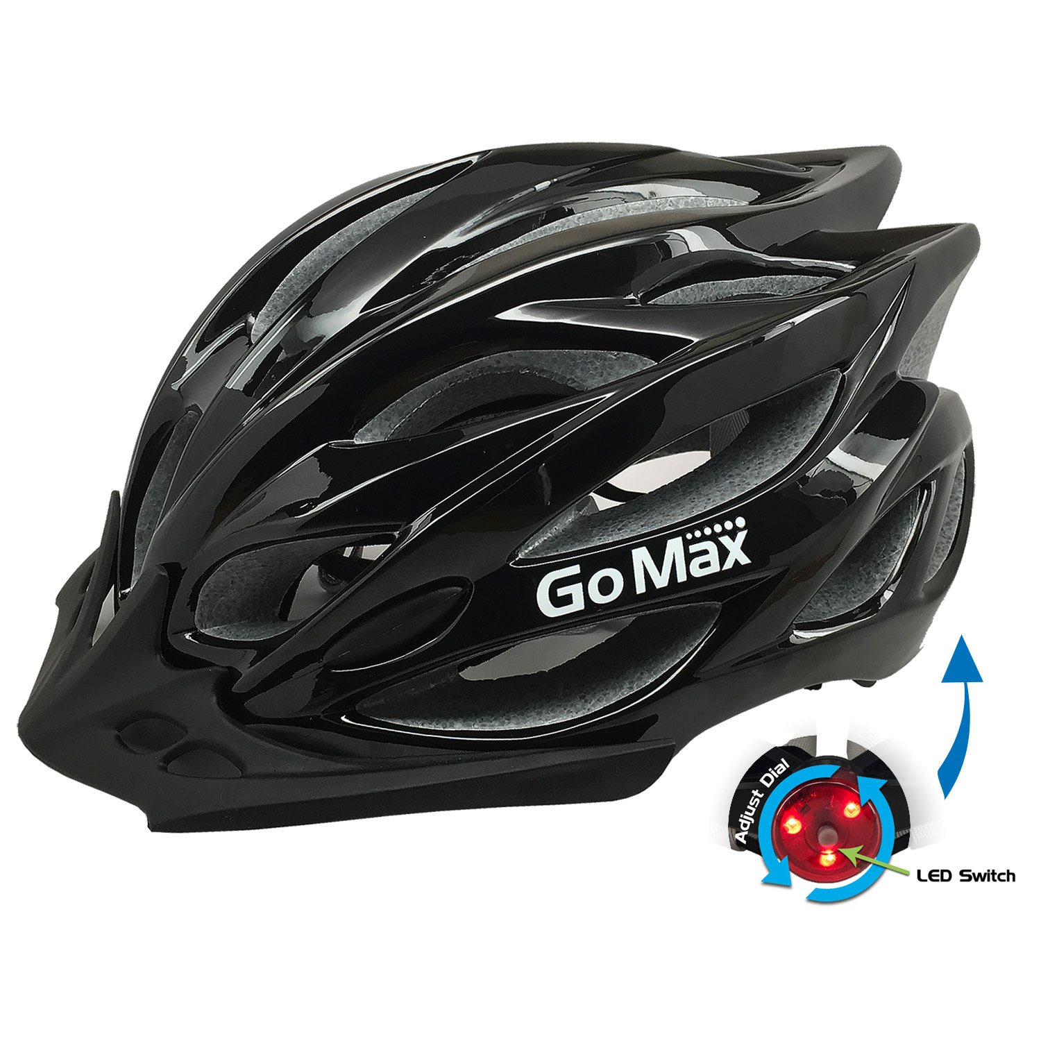 GoMax Aero Adult Safety Helmet Adjustable Road Cycling Mountain Bike Bicycle Helmet Ultralight Inner Padding Chin Protector