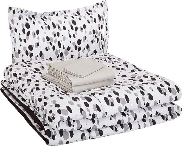 Amazon Basics Kid's Comforter Set – Soft, Easy-Wash Microfiber – Twin, Multi-Color Dream Big