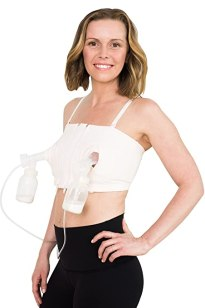 Simple Wishes Signature Hands Free Pumping Bra, Patented, Soft Pink, XS-Large