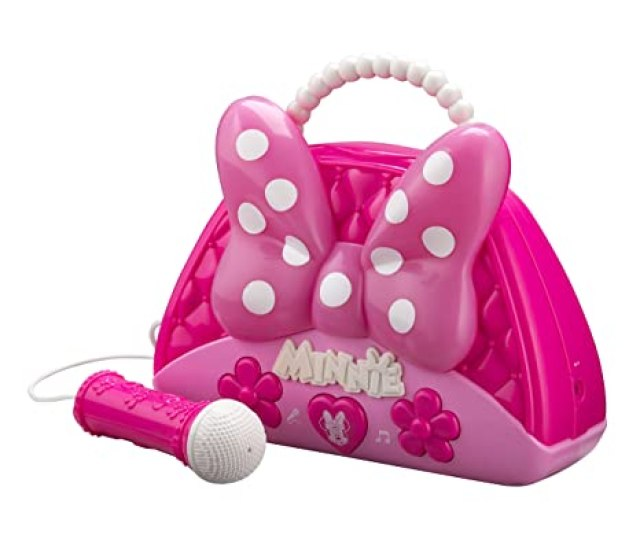 Minnie Mouse Voice Change Boombox With Microphone Sing Along To Built In Music Or Connect