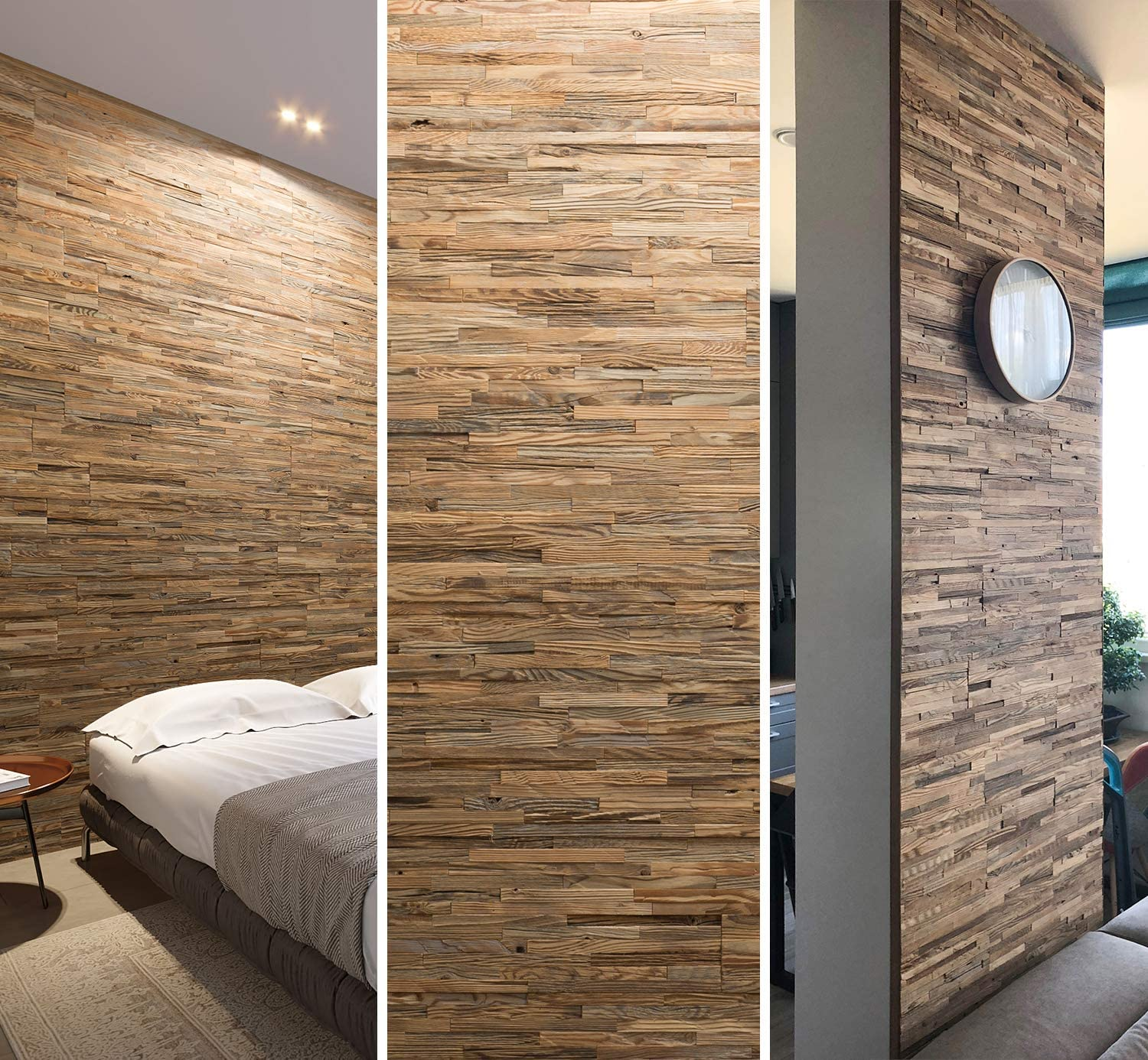 Wooden Wall Design Wall Panel Brut Decorative Wood Tiles For Wall Covering Amazon Co Uk Diy Tools