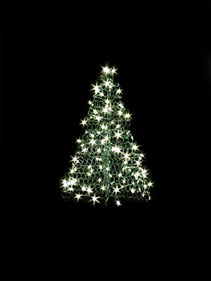 Crab Pot Trees 3 Ft Indoor Outdoor Pre Lit Led Artificial Christmas Tree