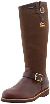 "Chippewa Men's 17"" Waterproof Pull On 25110 Snake Boot,Brown,10.5 M US"