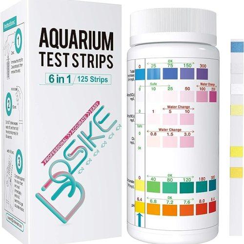 BOSIKE Aquarium Test Strips, 125 Strips Fish Tank Test Kit
