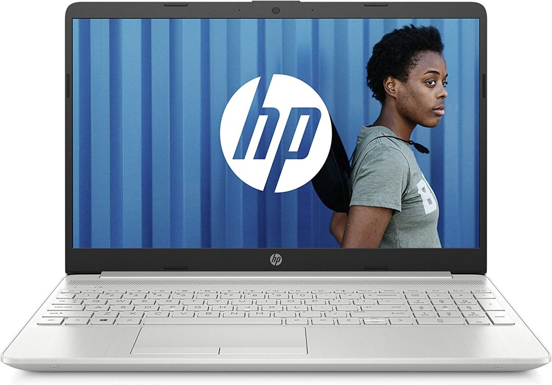 "HP 15-dw0051nf PC Portable 15,6"" FHD Argent (Intel Core i3, RAM 4 Go, 1To + SSD 128 Go, AZERTY, Windows 10)"