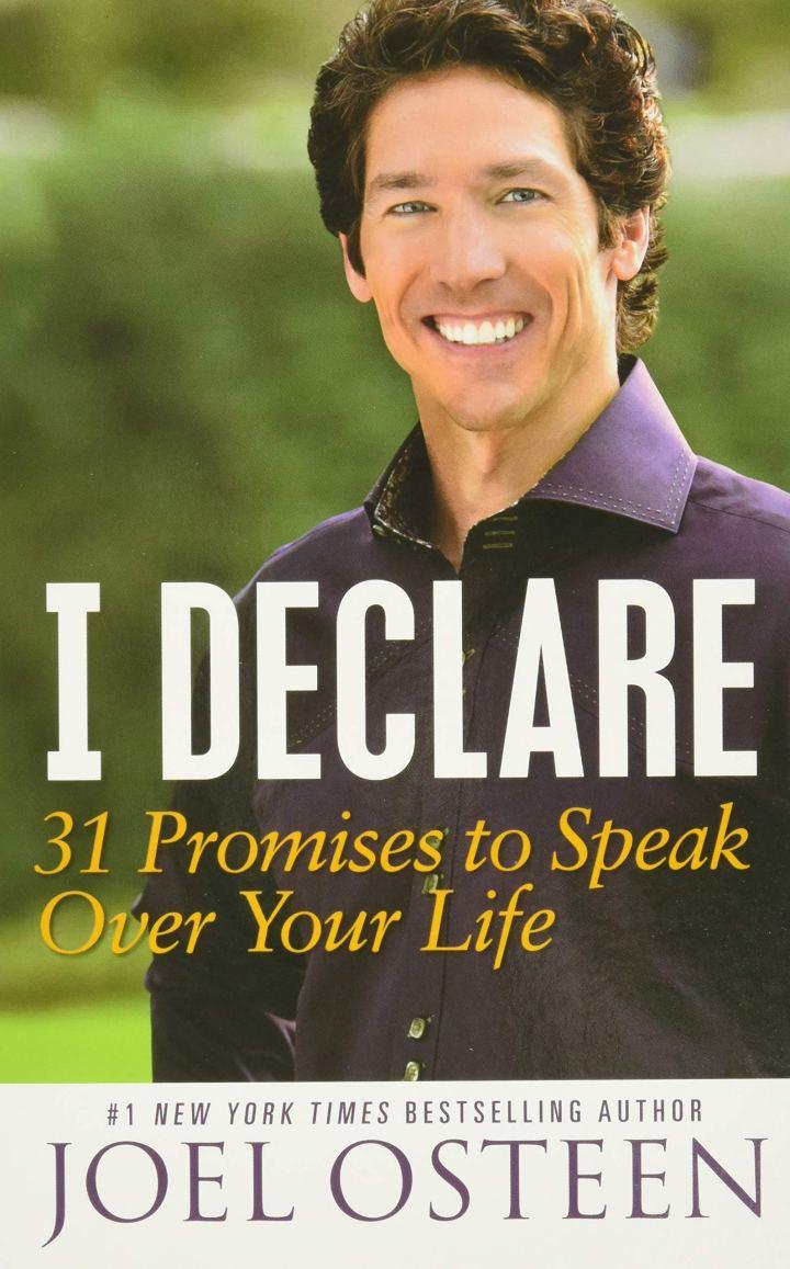 I Declare: 31 Promises to Speak Over Your Life: Osteen, Joel:  9781455529322: Amazon.com: Books