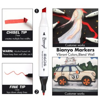 Bianyo Classic Series Alcohol-Based Dual Tip Art Markers