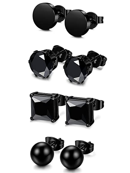 pendientes negros sencillos https://amzn.to/2QlBmNr