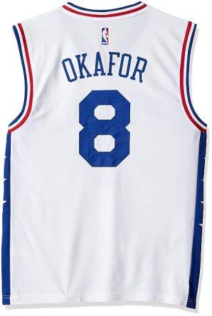 NBA Men's Philadelphia 76ers Okafor Replica Player Home Jersey, 3X-Large, White