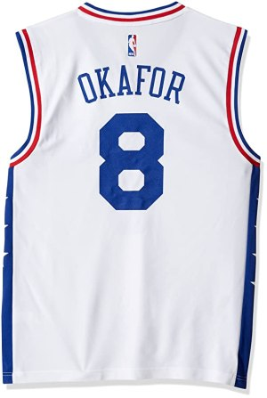 NBA Men's Philadelphia 76ers Okafor Replica Player Home Jersey, 4X-Large, White