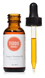 Radha Beauty Rosehip Oil - 100% Pure Cold Pressed Certified Organic 4 fl. oz