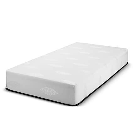 Fortnight Bedding 10 Inch Twin Memory Gel Infused Foam Mattress With White Stretch Knit Fabric