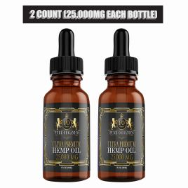 (2 Pack :: 25,000mg Each) Hemp Oil for Pain Relief Anxiety Relief Sleep Support :: Organic – Hemp Extract Supplement