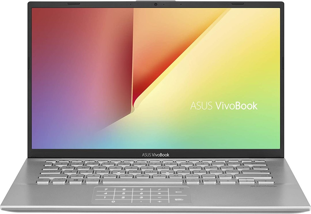 ASUS Vivobook S S412DA-EK290T PC Portable 14'' (AMD R5-3500U, RAM 8Go, 256Go SSD, Windows 10) Clavier AZERTY Français