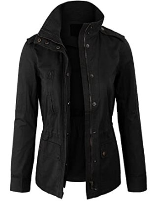 Image result for KOGMO Womens Military Anorak Safari Jacket with Pockets