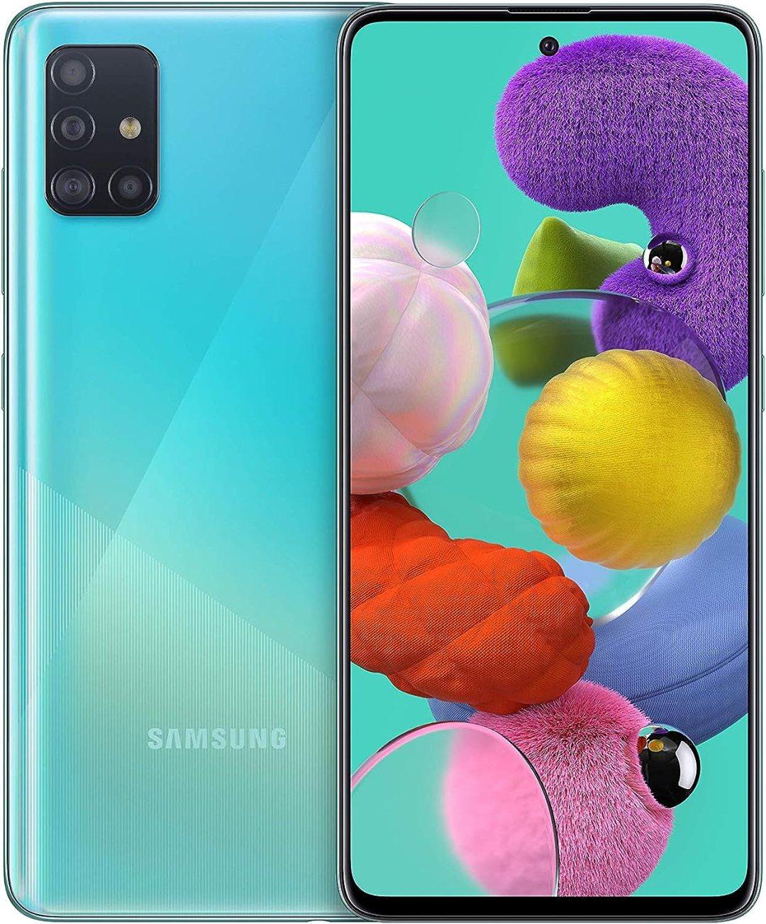 Samsung Galaxy A51 - débloqué 4G (6,5 pouces - 128 Go - android) - bleu