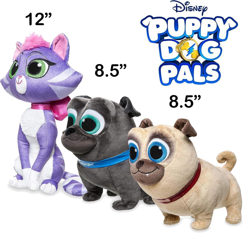 Amazon Com Puppy Dog Pals Plush Rolly Bingo Hissy Bundle Disney Exclusive Toys Games