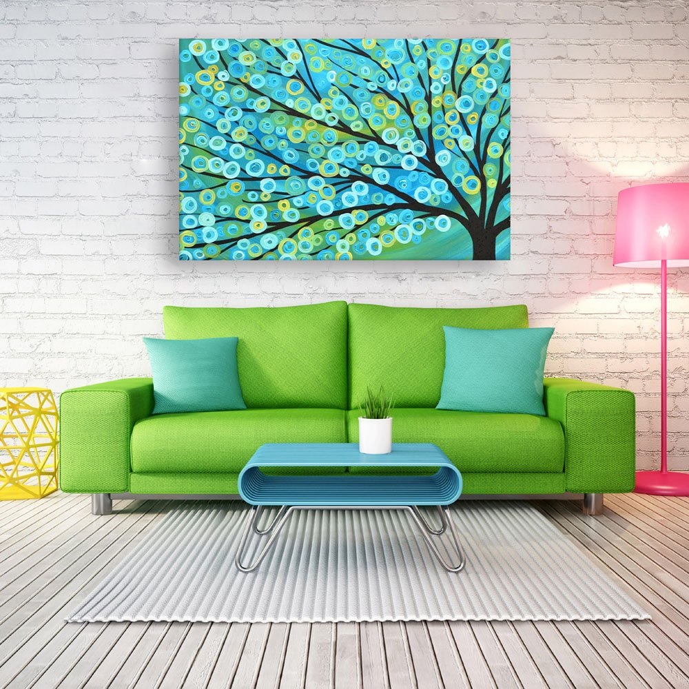 Inephos Unframed Canvas Painting - Beautiful Tree Art Modern Wall Painting  for Living Room, Bedroom, Office, Hotels, Drawing Room (91cm X 61cm):  Amazon.in: Home & Kitchen