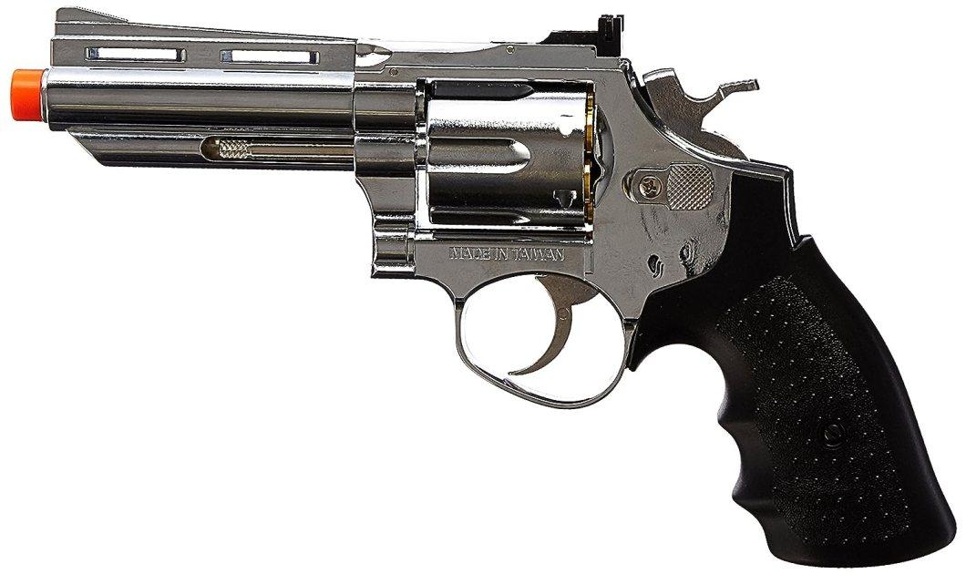 BBTac BBTac-HG-132-Silver HFC Barrel Gas Revolver Airsoft Gun