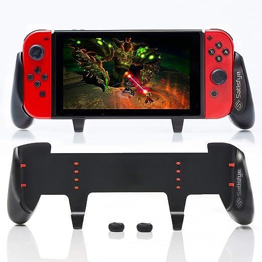 Satisfye - ZenGrip Pro, Grip Compatible with Nintendo Switch - Comfortable & Ergonomic Grip, Joy Con & Switch Control. #1 Switch Accessories Designed for Gamers. BONUS: 2 Thumbsticks