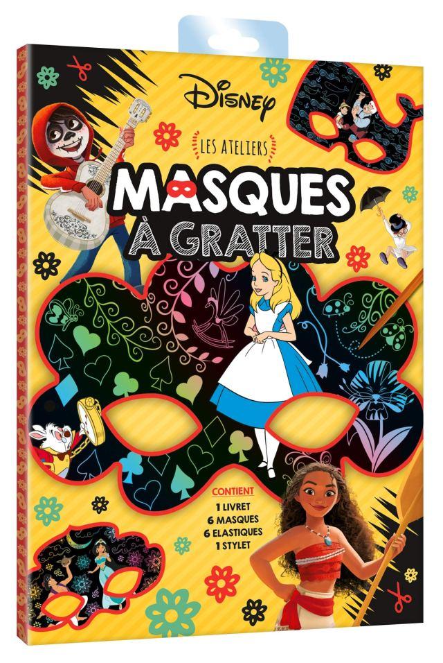 DISNEY - Pochette Les Ateliers - Masques à gratter (French Edition