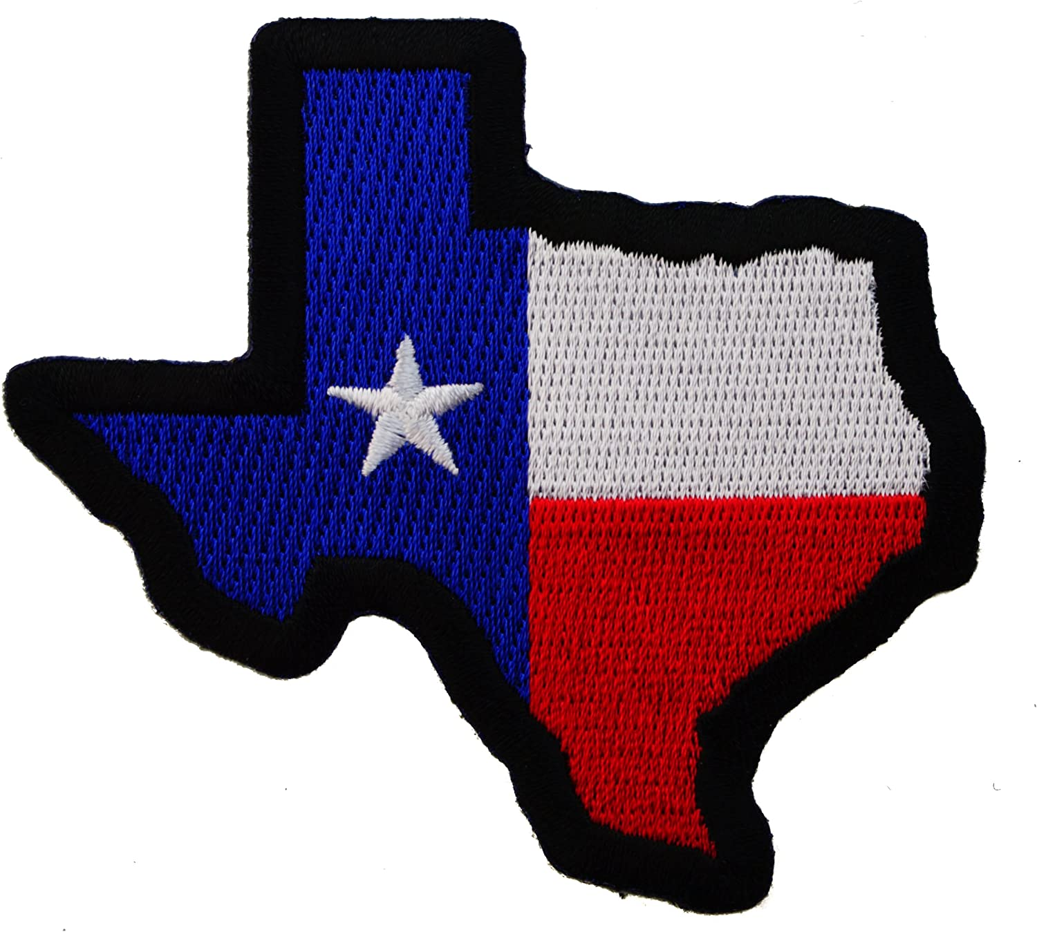 Amazon Com Map Texas State Flag Colors Iron On Embroidered Patch Ivan2084b Arts Crafts Sewing