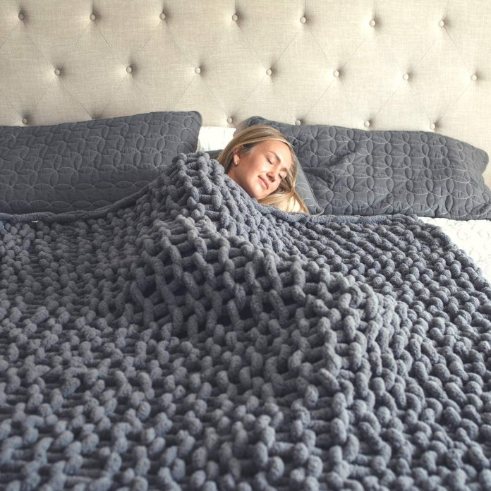 Chunky Knit Blanket – Super Soft Chunky Knit Throw Blanket for Bed
