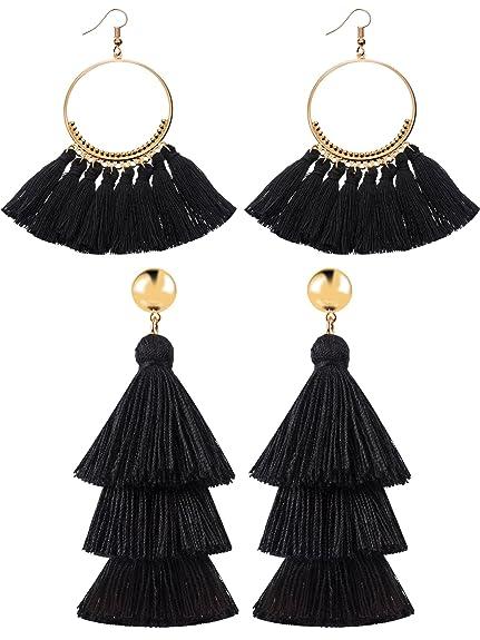 aretes para mujeres y niñas color negro casualeshttps://amzn.to/2Uxml9D