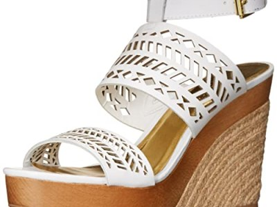 Must have summer sandals, Ralph Lauren Georgina espadrille white cut out demi wedges