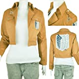 IDS Home Khaki Anime Attack on Titan Jacket Coat Cosplay Costumes Clothes, M