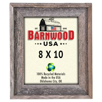 BarnwoodUSA Rustic 8 by 10 Signature Picture Frame - 100% Wood