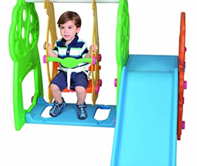 Pavlovz Indoor Outdoor Swing And Slide Playground Multi Color Discontinued By