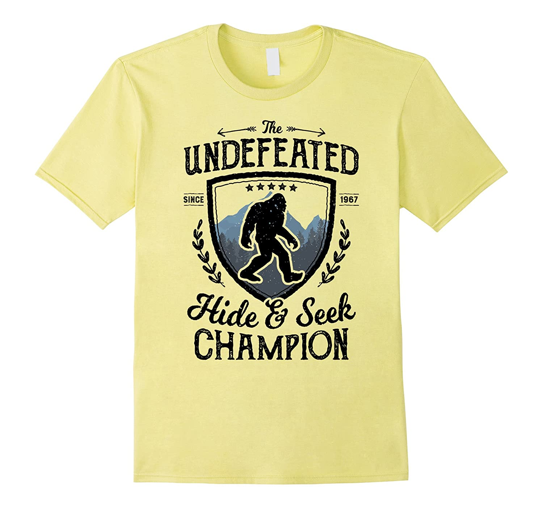 Bigfoot Undefeated Hide And Seek Champion Sasquatch T Shirt