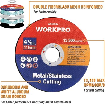 best cut off wheels for angle grinder - WORKPRO