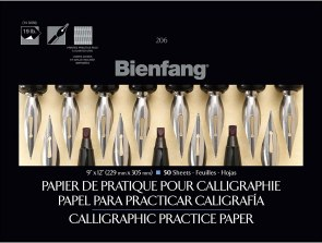Bienfang 9 x 12 Inches Calligraphic Practice Paper Pad