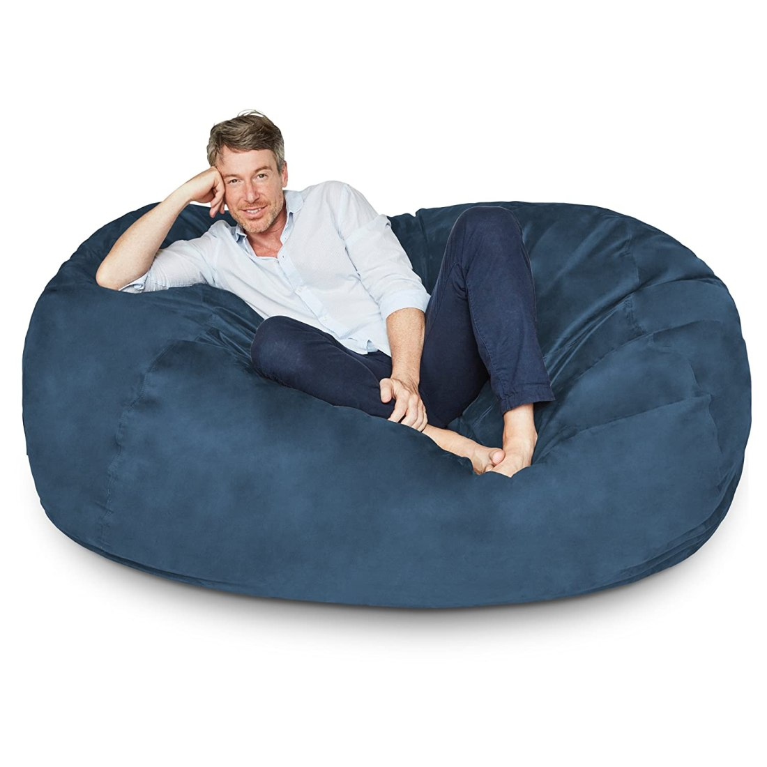 Boy Sitting In Bean Bag Chair
