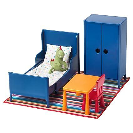 Ikea Huset Meubles De Poupée Chambre à Coucher Amazonco