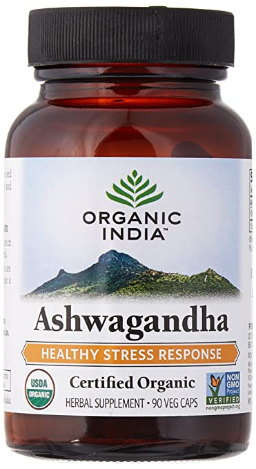 ORGANIC INDIA Ashwagandha Helps to balance your stress response and helps with depression/anxiety