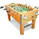 T&R sports 5FT Foosball Table Heavy Duty for Pub Game Room with Drink Holders, Oak US Stock