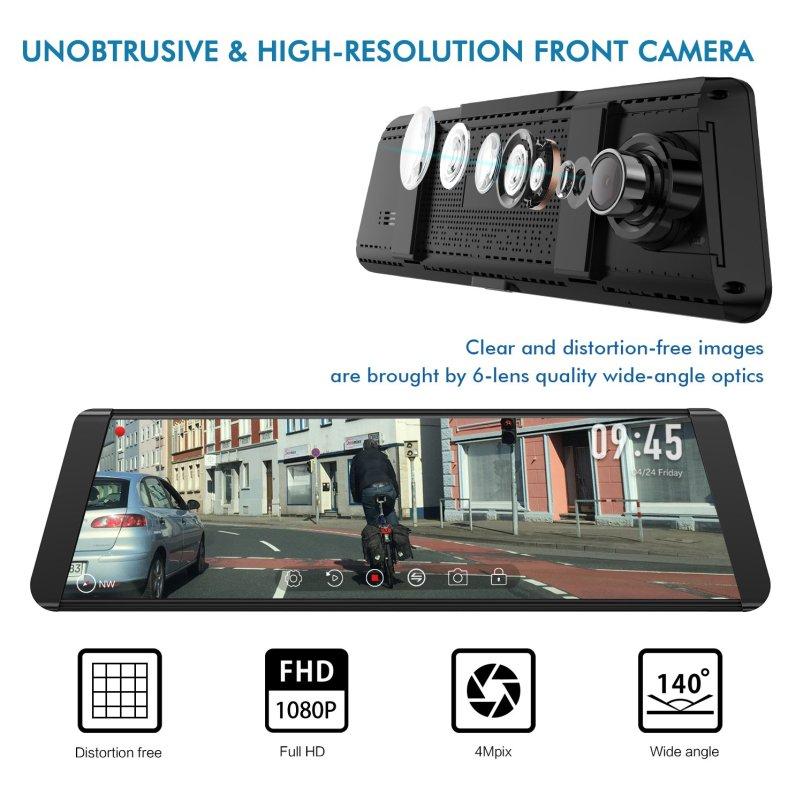 Auto Vox X2 Dashcam - Rückspiegel mit integriertem Display