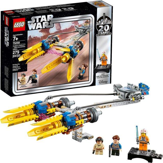LEGO Star Wars: La amenaza fantasma Anakin's Podracer – 20th Anniversary  Edition 75258 Kit de construcción (279 piezas)