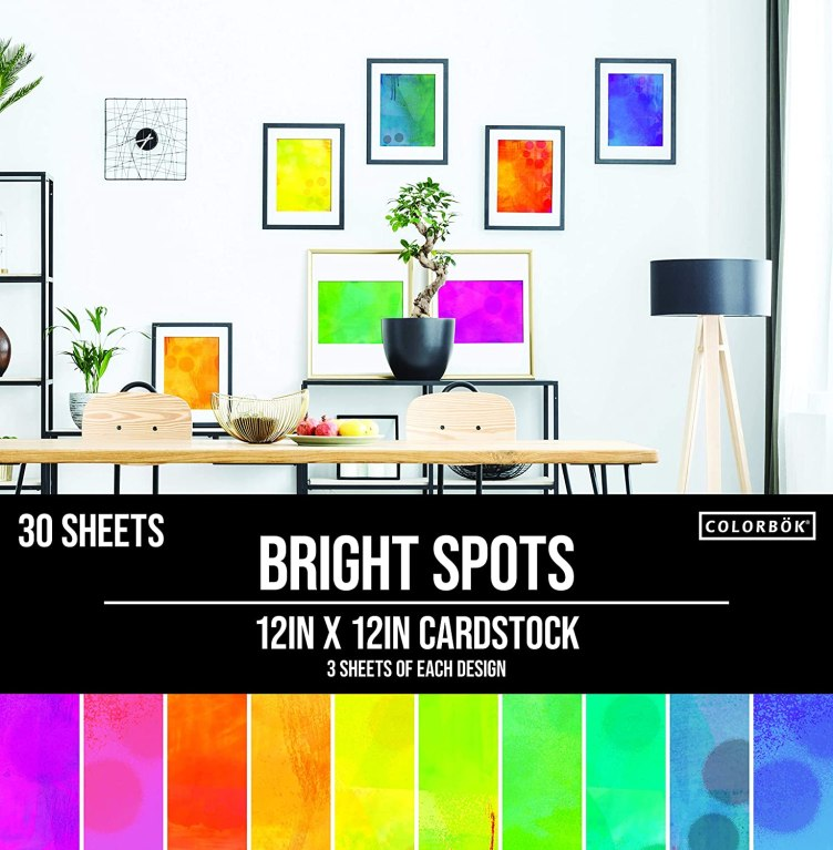 Amazon.com: Colorbok 78lb Single-Sided Printed Cardstock 12