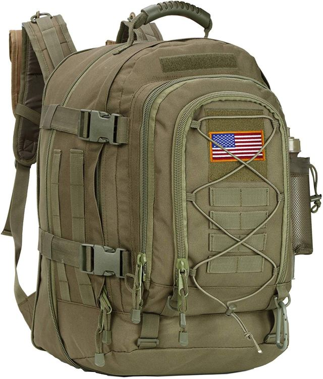 Amazon.com: Paladins Backpack Large Work Backpack Military Camo Backpack  Molle System Waterproof for Men (BLACK WHIT FLAG): Clothing